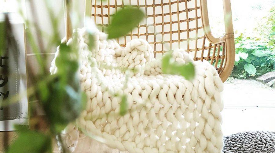 chunky handgemaakt merino grof gebreid plaid deken kussens wol zomerplaid wolwitplaid
