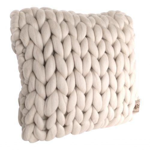chunky merino grof gebreid plaid deken kussens wol plaid bolletje wol bolletje wolletje linnen kussen sierkussen biologische wol rond
