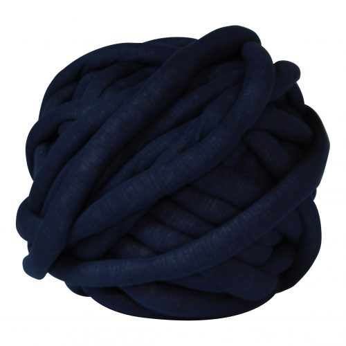 Dark denim DIY chunky organic cotton xxl dark blue night knit crochet plaid bolletje wol bolletje wolletje big cotton vegan childfriendly animalfriendly wolletjebol gots do it yourself diy buy merino wool
