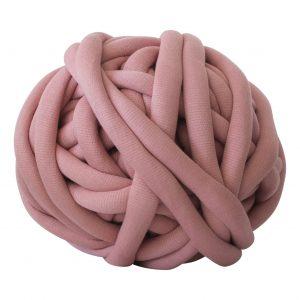Oudroze DIY doe het zelf chunky katoen roze dusty pink cotton grof gebreid gebreide deken cotton bolletje wol bolletje wolletje vegan kindvriendelijk huisdiervriendelijk gots biologisch verantwoord xxl armbreien wolletjebol lontwol kopen zelf maken