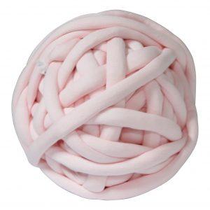 Pastelroze DIY doe het zelf chunky katoen zachtroze roze dusty pink cotton grof gebreid gebreide deken cotton bolletje wol bolletje wolletje vegan kindvriendelijk huisdiervriendelijk gots biologisch verantwoord xxl armbreien wolletjebol lontwol kopen zelf maken