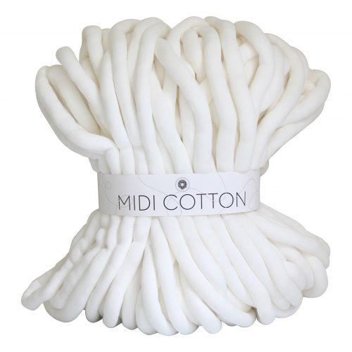 Roomwit DIY Midi Cotton doe het zelf chunky katoen creme wit beige cotton grof gebreid gebreide deken cotton bolletje wol bolletje wolletje vegan kindvriendelijk huisdiervriendelijk gots biologisch verantwoord xxl armbreien wolletjebol lontwol kopen zelf maken