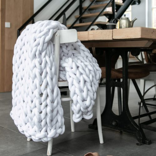 xxl knit crochet plaid bolletje wol bolletje wolletje bright snow white throw chunky cotton vegan childfriendly animalfriendly organic gots