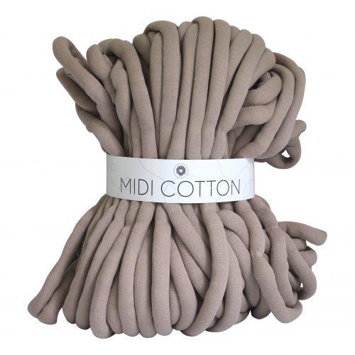 Taupe DIY Midi Cotton doe het zelf chunky katoen zand creme beige cotton grof gebreid gebreide deken cotton bolletje wol bolletje wolletje vegan kindvriendelijk huisdiervriendelijk gots biologisch verantwoord xxl armbreien wolletjebol lontwol kopen zelf maken