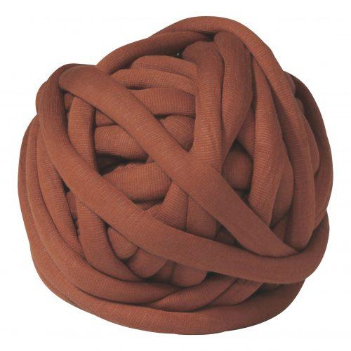 Terra DIY chunky organic cotton brique red brown xxl knit crochet plaid bolletje wol bolletje wolletje big cotton vegan childfriendly animalfriendly wolletjebol gots do it yourself diy buy merino wool