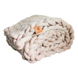 xxl knit crochet plaid bolletje wol bolletje wolletje ecru creme natural linen pouf chunky cotton vegan childfriendly animalfriendly footstool pouffe