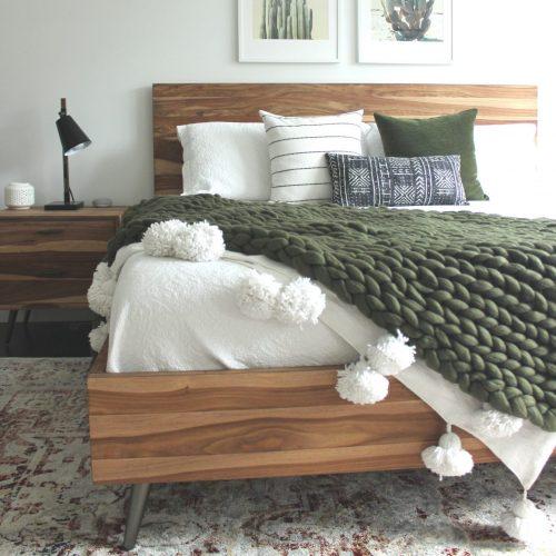 wolletje bol bolletje wol chunky knit xxl woollen plaid blanket throw pillow cushion moss green organic wool gots do it yourself diy buy merino wool