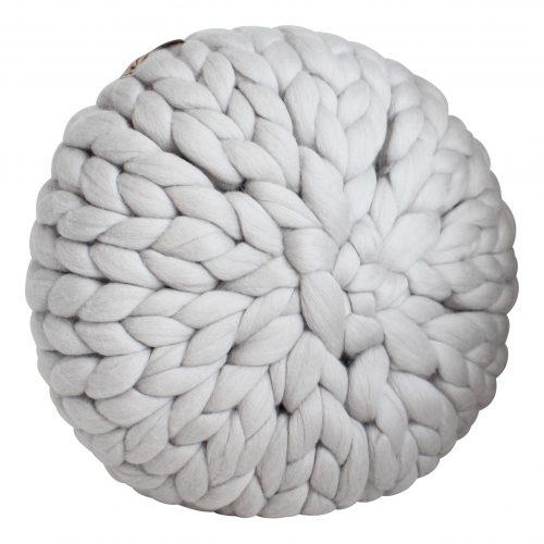 chunky merino grof gebreid plaid maken deken kussens wol zilvergrijs kussen plaid basics wol bolletje wolletje